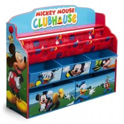 ชั้นวางหนังสือพร้อมกล่องเก็บของเล่นสำหรับลูกน้อย Delta Children Deluxe Book & Toy Organizer (Disney Mickey Mouse)
