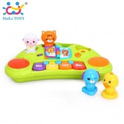 คีย์บอร์ดดนตรีพร้อมตุ๊กตาสัตว์แสนสนุก Huile Toys Funny Animal Keyboard