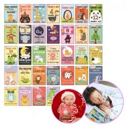 การ์ดไมล์สโตนอายุและพัฒนาการของลูกน้อย TimberRain Baby Milestone Card Set - Unique & Memorable