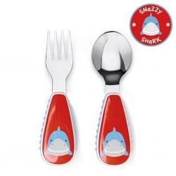 ชุดช้อนและส้อมสำหรับเด็กสุดน่ารัก Skip Hop รุ่น Zootensils Little Kids Fork & Spoon (Shark)
