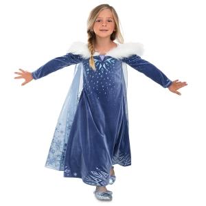 ชุดคอสตูมรุ่นดีลักซ์สำหรับเด็ก Disney Deluxe Costume for Kids (Olaf's Adventure Frozen Elsa)