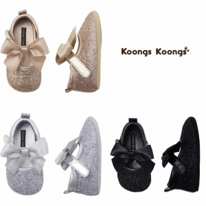 รองเท้าสุดหรูสำหรับเจ้าหญิงน้อยวัยเตาะแตะ Koongs Koongs รุ่น [Ribbon] - Tinkerbell Collections