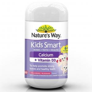 แคลเซียมเสริมวิตามินดีเคี้ยวอร่อยสำหรับเด็ก Nature's Way Kids Smart Calcium + Vitamin D
