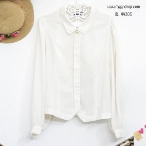 44305 size38 เสื้อสีขาว