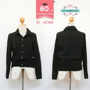 42362 size40 เสื้อเชิ้ตสีดำ