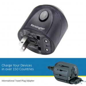อแดปเตอร์แปลงระบบไฟฟ้า Kensington รุ่น International All-in-1 Travel Plug Adapter (K33117)