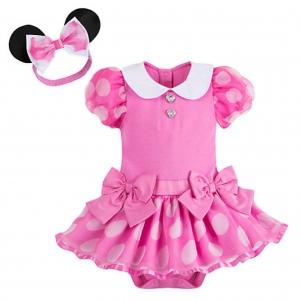 ชุดคอสตูมบอดี้สูทเบบี๋สุดน่ารัก Disney Baby Costume Body Suit (Minnie Mouse Pink)