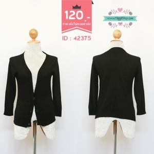 42375 size38 เสื้อคลุม เสื้อกันหนาว เสื้อไหมพรม