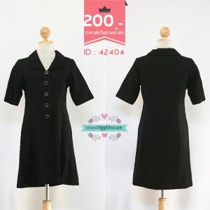 (ID 4270 จองคะ) 42404 size38-32-40 เดรสสีดำ