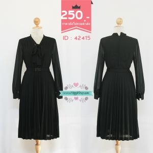 (ID 4276 จองคะ) 42415 size36-30-40 เดรสสีดำ