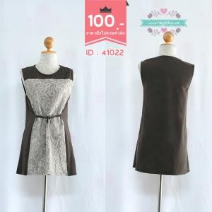 Size: L38 เดรสสั้น เดรสแฟชั่น เดรสทำงาน ชุดคลุมท้อง Dress
