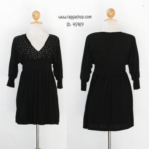 45969 เดรสดำ size M(ID 6139 จองคะ)