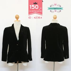 (Id 4286 จองคะ) 42364 size36 เสื้อสูทสีดำ