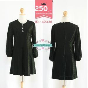 (ID 4274 จองคะ)42436 size36-34-40 เดรสสีดำ