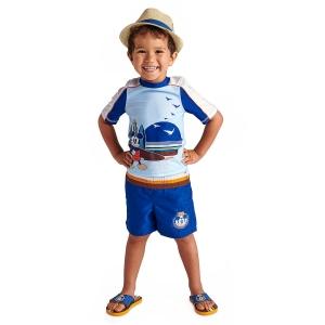 เสื้อและกางเกงว่ายน้ำสำหรับเด็ก Disney Rash Guard and Swim Shorts for Boys (Mickey Mouse)