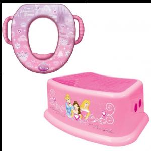 ชุดอุปกรณ์รองนั่งชักโครกพร้อมบันไดสตูล Disney Soft Potty & Step Stool (Disney Princess)