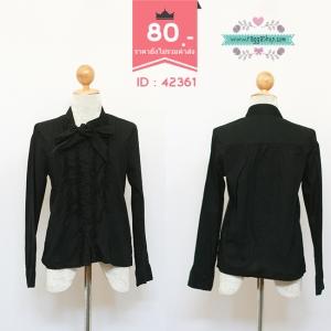 (ID 4249 จองคะ) 42361 size38 เสื้อเชิ้ตสีดำ