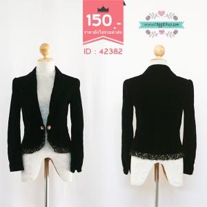 (ID 4258 จองคะ)42382 size36 เสื้อสูทสีดำ