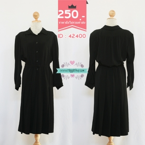 (ID 4263 จองคะ) 42400 size48-42-46 เดรสสีดำ