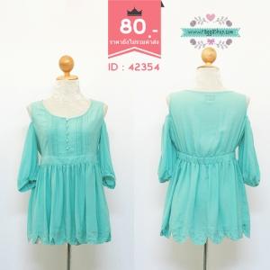 42354 size36 เสื้อสีฟ้า