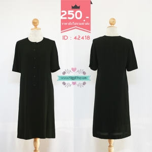 42418 size38-36-40 เดรสสีดำ