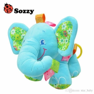 ตุ๊กตาช้างน้อยกล่อมนอนเสริมพัฒนาการ Sozzy รุ่น Elephant Musical Baby Plush Toy (สีฟ้า)