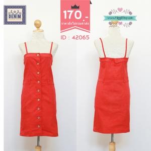 42065 size34 ้เรรสยีนส์สีแดง
