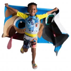 เสื้อและกางเกงว่ายน้ำสำหรับเด็ก Disney Rash Guard and Swim Shorts for Boys (Puppy Dog Pals)