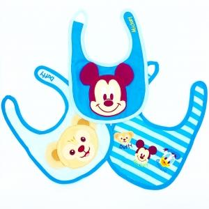 ชุดผ้ากันเปื้อนสำหรับเบบี๋แสนน่ารัก Disney Disney Baby Bib Set of 3 (Mickey Mouse & Friends)