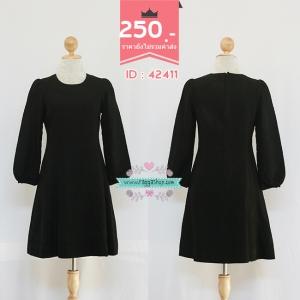 (ID 4268 จองคะ) 42411 size36-32-40 เดรสสีดำ