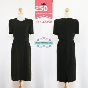 (ID 4253 จองคะ) 42396 size36-30-40 เดรสสีดำ