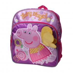 """*ตำหนิ* กระเป๋าเป้สะพายหลังสำหรับเด็ก Peppa Pig Make Believe """"Fairy Magic!"""" 14 inch Backpack"""