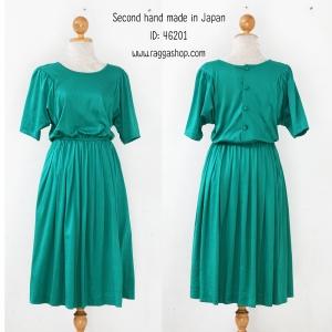46201 free size เดรสสีเขียว (ID 6156 จองคะ)