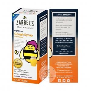 สมุนไพรบรรเทาอาการไอช่วงกลางคืนสำหรับเด็ก ZARBEE'S Naturals Children's Cough Syrup + Mucus with Dark Honey