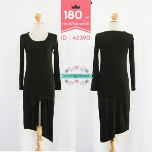 (Id 4285 จองคะ) 42390 size36-32-40 เดรสสีดำ