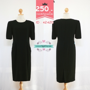 42420 size 38-32-38 เดรสสีดำ