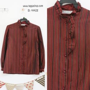44438 size38 เสื้อเชิ้ตสีแดง