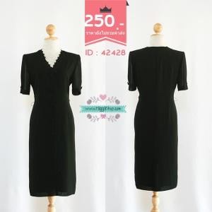 42428 size36-30-36 เดรสสีดำ