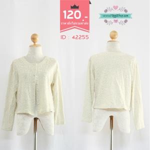 42255 size40 เสื้อคลุม เสื้อกันหนาว เสื้อไหมพรม