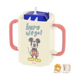 กล่องป้องกันการบีบกล่องเครื่องดื่ม Combi / Skater Baby Drink Holder (Disney Baby Classic Mickey Mouse)