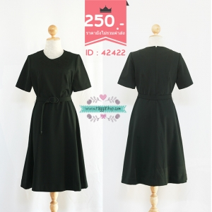 42422 size36-32-42 เดรสสีดำ