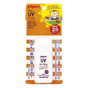 ครีมน้ำนมกันแดดสำหรับทารกและเด็กเล็ก Pigeon UV Baby Water Milk SPF25 PA++