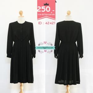 (ID 4273 จองคะ) 42421 size40-34-46 เดรสสีดำ