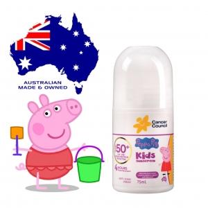 โรลออนกันแดดสำหรับลูกน้อย Cancer Council รุ่น Peppa Pig Kids Sunscreen SPF50+ Roll-On