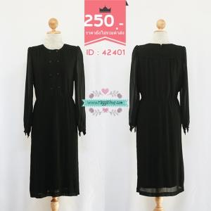 (ID 4261 จองคะ) 42401 size40-38-44 เดรสสีดำ