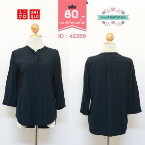 (ID 4249 จองคะ) 42358 size40 เสื้อเชิ้ตสีน้ำเงิน