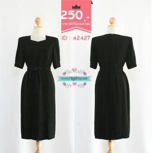 42427 size36-32-38 เดรสสีดำ
