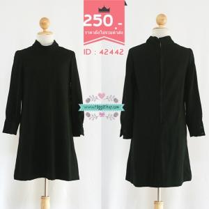 (ID 4275 จองคะ) 42442 size36-36-40 เดรสสีดำ
