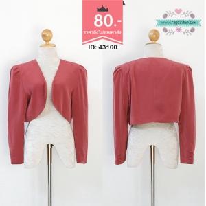 43100free size เสื้อสูทสีชมพู