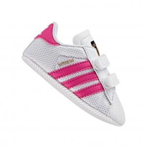 รองเท้าสุดนุ่มสำหรับเบบี๋ Adidas Originals Superstar Crib (White / Bold Pink (UK3))